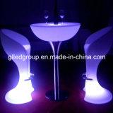 Table basse en plastique moderne des meubles 16colors DEL de DEL pour le Pub