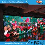 Farbenreiches Pixel-Abstand 6mm LED-Bildschirmanzeige-Innenzeichen für das Aufbauen von Hall