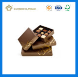 주문 로고에 의하여 인쇄되는 선물 종이 초콜렛 포장 상자 (뚜껑에)