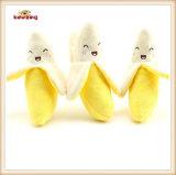 Giocattolo stridulo dell'animale domestico &Stuffed peluche del reticolo della banana per il cane