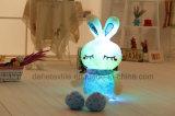 Brinquedo enchido encantador do luxuoso com luzes do diodo emissor de luz-- Brinquedo cor-de-rosa bonito do animal do coelho