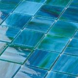 Mattonelle di vetro di Backsplash di verde della stanza da bagno del turchese