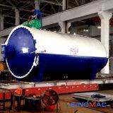 автоклав прокатанного стекла 2000X45000mm нагретый маслом (SN-BGF2045)