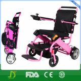 Fáceis de pouco peso da paralisia cerebral carreg a cadeira de rodas de dobramento da potência