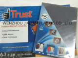 Feuille rigide de PVC pour la couverture grippante d'A4/d'A3 ou personnalisé