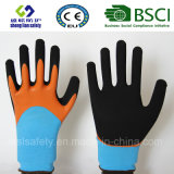 Le latex a givré des gants, les gants de travail de sûreté de fini de Sandy (SL-RS304)