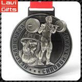 高品質の工場価格のカスタム重量挙げメダル