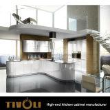 Het Witte Kabinet Ktichen van de manier met de Houten Countertop en van het Handvat Vrije Douane tivo-0201h van het ontwerp