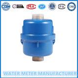 Medidor volumétrico de agua en color azul