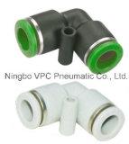 Vpc Pnuematicのプラスチック適切な空気のコネクターの黄銅の付属品