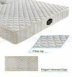 Colchón de resorte barato de Bonnell con capa cómoda de la espuma
