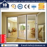 Australien-Standarddoppeltes glasig-glänzende schalldichter Bifold Entwurfs-Aluminiumfaltblatt-Türen