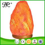 Lampe de l'Himalaya normale de sel, lampe de roche de sel avec des ampoules d'halogène