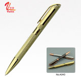 Crayon lecteur de rouleau de crayon lecteur de bille en métal d'or pour des cadeaux d'affaires