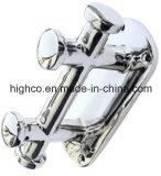 Poteau d'amarrage marin de double croix de matériel d'acier inoxydable