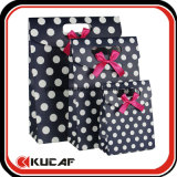 Custom Die Cut Handle Paper Gift Box com arco de fita