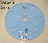 Primer muñeco de nieve Treeskirt de la decoración de la Navidad del bebé