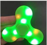 Fileur de plastique de vente chaud de cadeau de main de doigt d'éclairage LED de jouet de la personne remuante 2017 avec le haut-parleur de Bluetooth