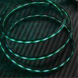 Kupferner Draht TPE-Oberflächen-blinkendes Beleuchtung-Synchronisierung USB-aufladenkabel