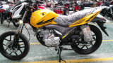 Bicicleta desportiva de moto de rua dourada de 150 cc