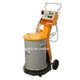 Unità di applicazione del rivestimento della polvere e cabina di spruzzo