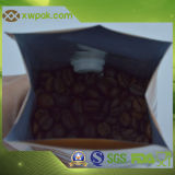 Sacchetti di caffè laterali di plastica del rinforzo con la valvola