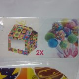 Caja de embalaje del rectángulo de regalo del estallido de la torta del papel S/2