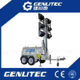 12kw Kubota 6 * 1500watts Dual Axles Mobile Light Tower