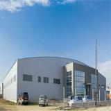 Edificio per uffici amministrativo comunale chiaro prefabbricato della struttura d'acciaio