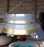 Piatto concavo della protezione del manto della fodera della ciotola della parte di usura del frantoio del cono dell'OEM