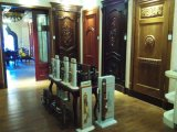 Puerta del oro del cepillo, puerta exterior, puerta de madera sólida
