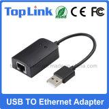 USB prendido de alta velocidade 2.0 ao Dongle do LAN da rede do Ethernet 10/100Mbps