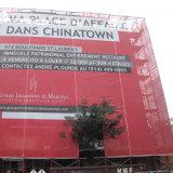 Enveloppes extérieures de construction pour annoncer drapeau de maille de PVC d'usage le grand
