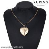32205 نمو [18ك] نوع ذهب هيكليّة مجوهرات عقد مدلّاة في قلب يشكّل