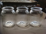 Vela de vidro, frasco de vidro agradável, frasco de vidro com punho, frasco de vidro com tampão