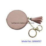 Kleine Münzen-Taschen-aufgerundeter Minibeutel/Schlüsselring-Mappe (16NW027A)