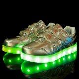 Партия зарева рождества управлением USB ботинок танцульки малыша высокого качества СИД нового изделие обувает свет