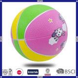 Basket-ball en caoutchouc de 8 panneaux avec le logo et la couleur personnalisés