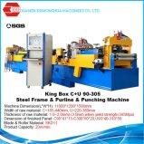 Rodillo del metal de hoja de la fuente del exportador de China B2b que forma el marco de acero prefabricado de la casa C U de la máquina que hace la máquina con la cima BD