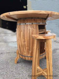 Fashionable Wooden Table Wine Barrel with Wine Storage