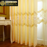 La pañería labra las cortinas anchas adicionales del poliester de las cortinas del oro