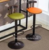 편리한 높은 다리 PU에 의하여 덮개를 씌우는 의자 바 의자 (LL-BC075)