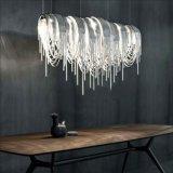 Da luz Chain de alumínio do pendente do Tassel Tassel luxuoso que pendura a iluminação de /Drop/Chandelier
