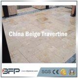 Плитка камня травертина Китая бежевая для внутренних украшения & конструкции Matrial