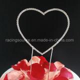 Solo corazón del Rhinestone de los primeros de la torta de boda del corazón del renacimiento