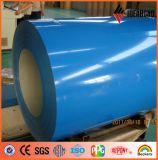 Bobina de aluminio pintado pintado del color de Ideabond para la construcción avanzada Mateirals