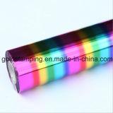虹のホログラフィック熱い押すホイル