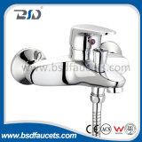 Faucets elevados de bronze do dissipador da garganta da torneira de misturador do Faucet da cozinha do cromo