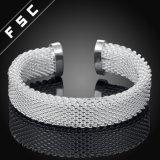 Браслет выдвиженческой сети ювелирных изделий 925 способа серебряной открытый для девушки