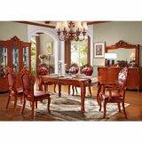 食事を用いる木製のダイニングテーブル椅子(H808)の